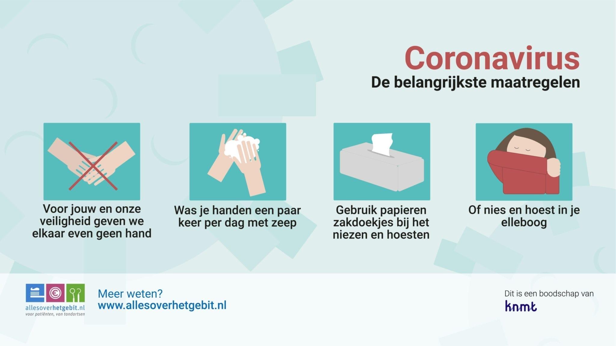Voorlichting hygiene coronavirus